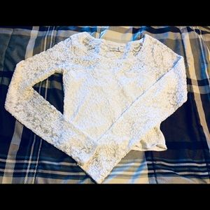 Tops - Abercrombie and Fitch Long sleeve lace crop top